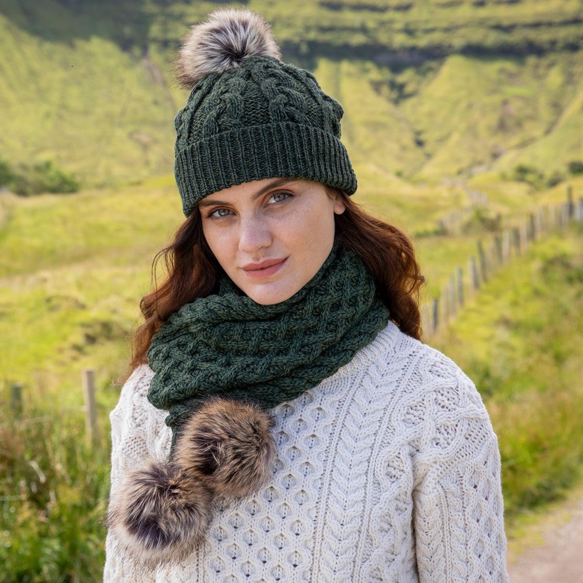 Hat & Scarf set Aran knitwear gifts