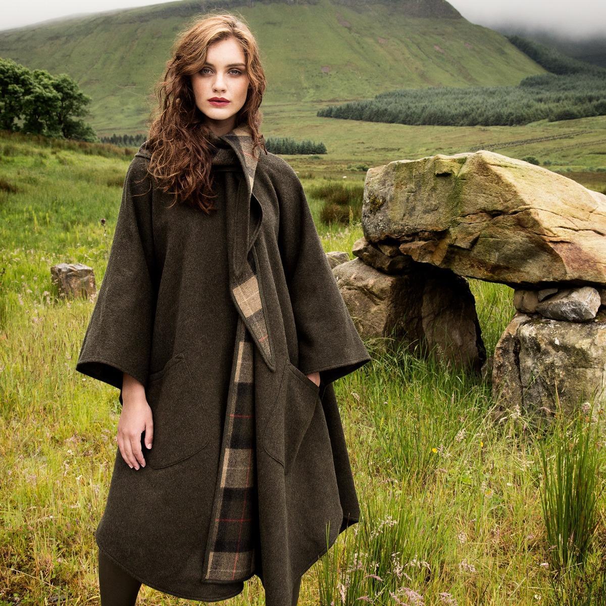 Clearance Sale Irish Wool Country Walking Cape