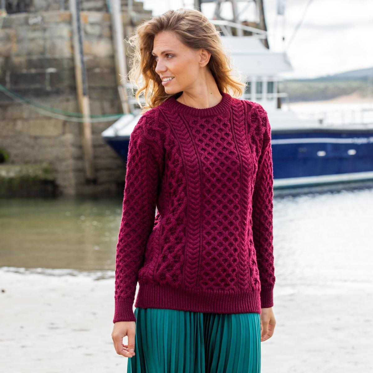 Blasket Aran sweater-Aran knitwear gifts