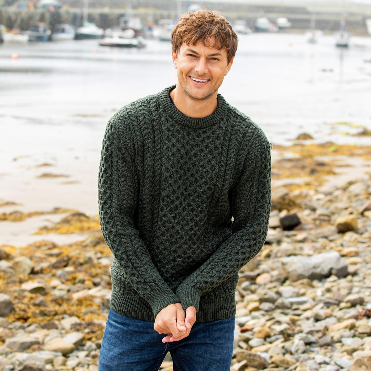 Aran sweater for him