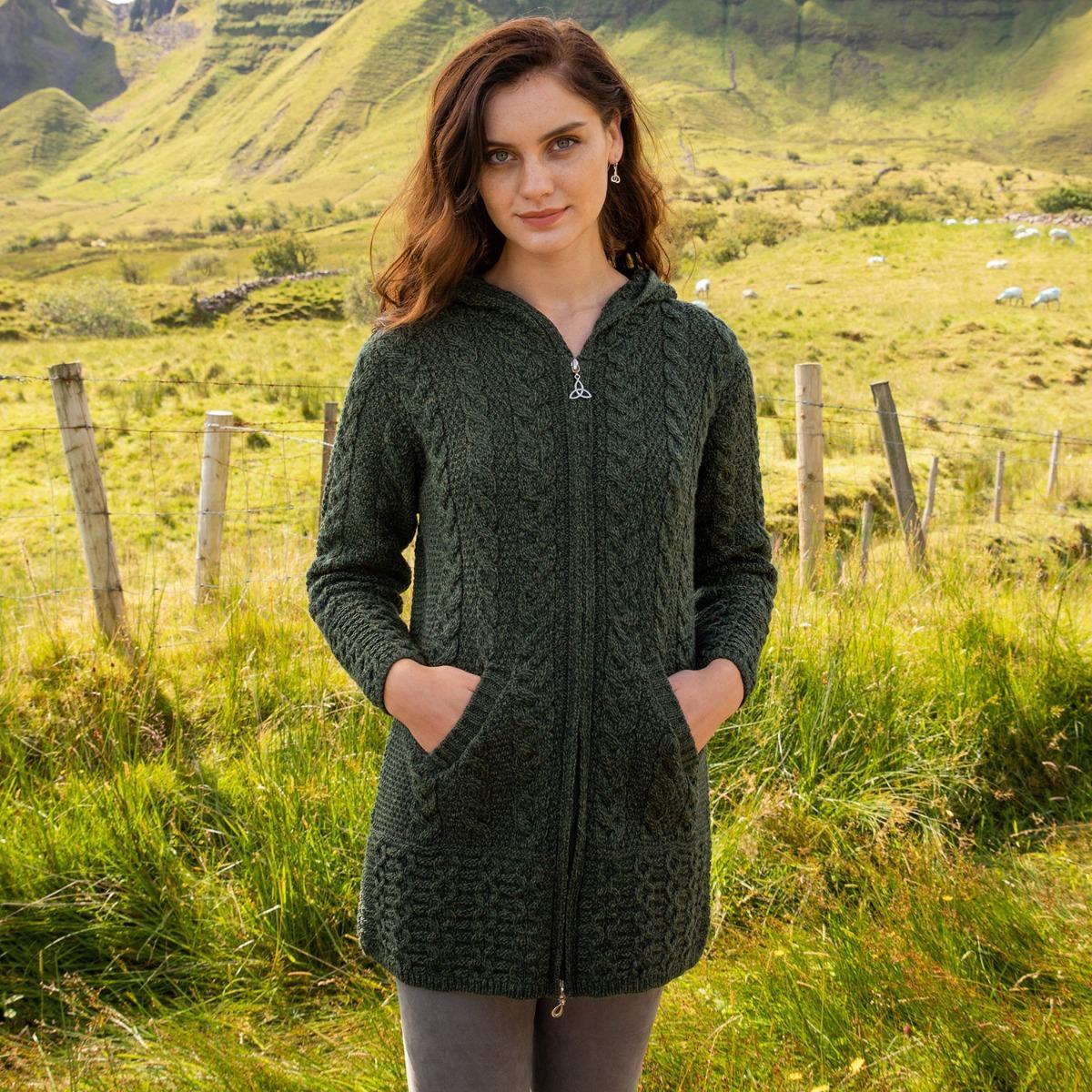 Aran zipper coat- The Irish Store sale